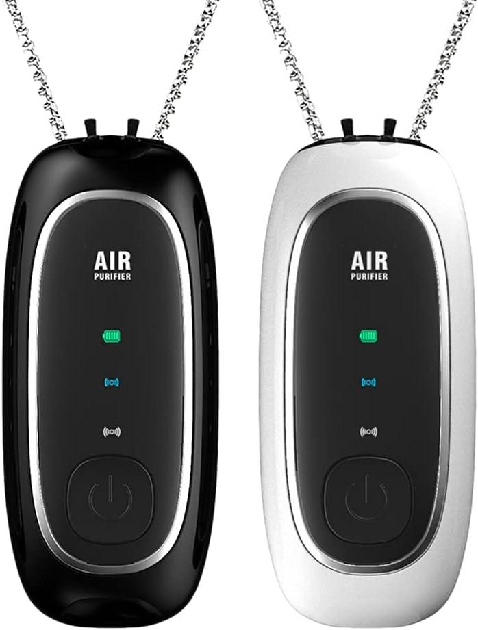 Lightofhope Purificadores de Aire Collar Purificador de Cuello Colgante de Iones Negativos PortáTil para TamaaO Trave Eliminar Olor una Humo Olor de Mascota al Aire Libre