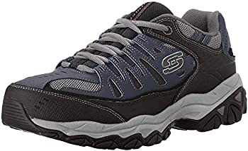 Skechers mens Afterburn Memory Foam Lace-up fashion sneakers Navy 9.5 US