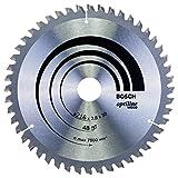 Lame de Scie Circulaire, 48 Dents, 30mm d'Alésage, 2.8mm Largeur de Coupe, 1.8mm Épaisseur du Corps, 216mm Diamètre