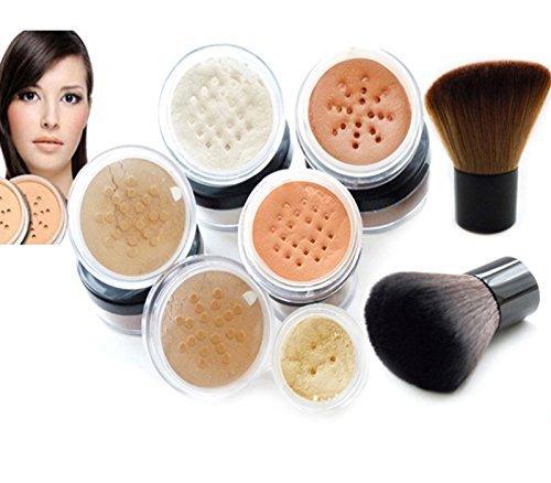 Intelligent Cosmetics® Make-up-Mineralpuder-Set, Fair & Fair2, natürlich, mit Kabuki-Pinsel