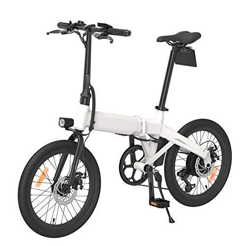 Sansund Vélo électrique Pliable Vélo Pliant Rechargeable pour Adulte avec Double déflecteurs et Pompe de gonflage - Transporteur électrique à 25 km/h, Portable Facile à Ranger, 3 Modes de Conduite