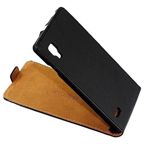 ebestStar - Funda Compatible con LG Optimus L9 P765 Carcasa Ventana Vista Cover Cuero PU, Funda Libro Billetera, Negro [Aparato: 131.9 x 68.2 x 9.1mm, 4.7'']