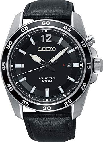 Seiko Herren-Uhr analog Kinetic mit Lederarmband SKA789P1
