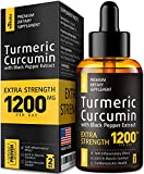 Premium Turmeric Curcumin with BioPerine - 1200mg PER Day - Highest Potency & BIOAvailability - Turmeric Curcumin Supplement for Pain Relief & Joint Support - Anti Inflammatory Effect - No-GMO