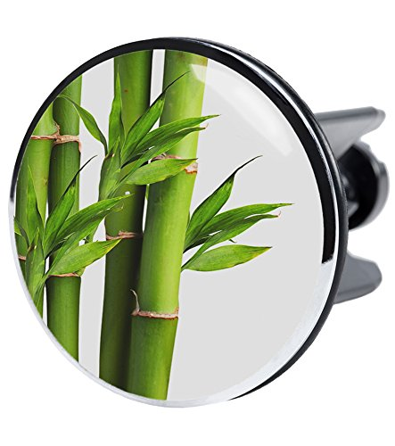 Bonde de lavabo XXL Bambou Vert, elle couvre toute la partie d'écoulement, de haute qualité ✶✶✶✶✶