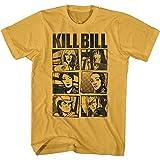 American Classics Kill Bill Movie Character Card Imágenes para adultos de manga corta camiseta gráfica, Oro, X-Large