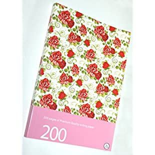 Brilliant Quality Flower Pattern Style Note book writing pad A4 size:Kisaran