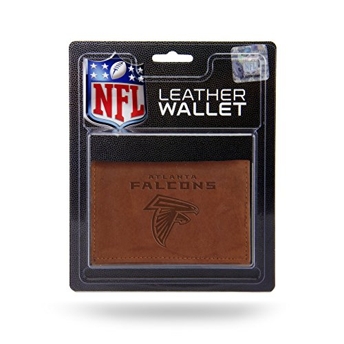 NFL Rico Industries Leather Trifold Wallet with Man Made Interior, Atlanta Falcons