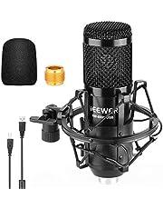 Neewer USB-microfoon 192KHz/24Bit Plug & Play Computer Cardioid Mic Podcast Condensatormicrofoon met professionele geluidschipset voor livestreaming/YouTube/Gaming Record/Voice Over (Zwart) (NW-8000-USB)