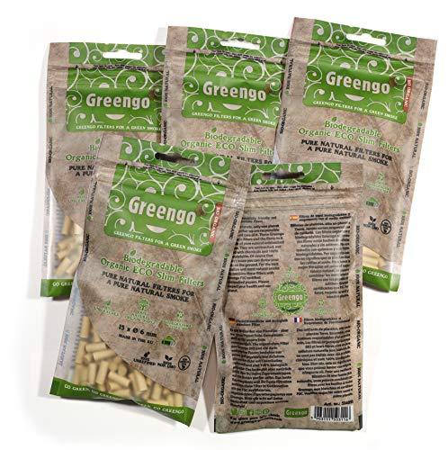 GreenGo 1000 Biodegradable ecologico ecologico sin blanquear Delgado 6 mm Puntas de Filtro