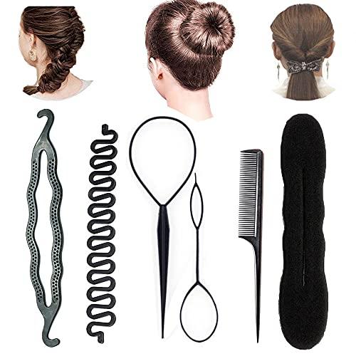 Accesorios de Peinado, Set de peinado, Set de accesorios para el cabello para Diseño de Espuma para Niñas Mujeres con pelo DIY