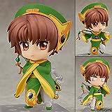 Yvonnezhang Anime Nendoroid 763 Card Captor Sakura Personaje Syaoran 10cm Figuras de Acción Juguetes