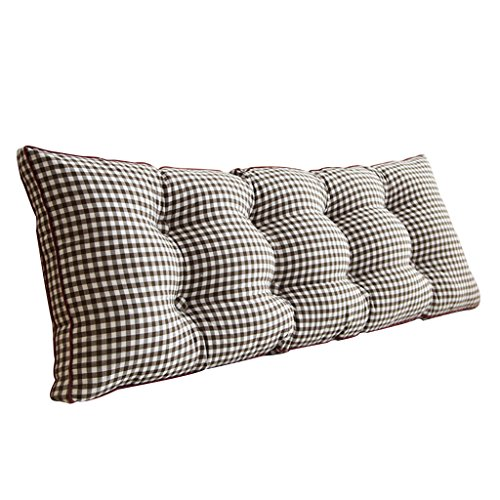 Best Price Lumbar Pillows Bed Pillows Positioners Cushion Sofa Back Black Plaid Long Pillow Easy to ...