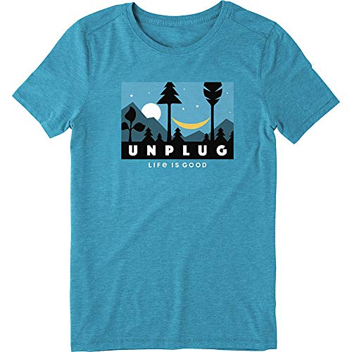 Life is Good Women's Cool Tee Night Time, Seaport Blue, X-Small