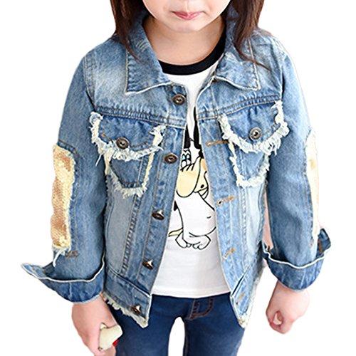 Chaqueta Vaquera para Niñas Vaquera Jacket De Mezclilla Denim Jackets Manga Larga Outwear