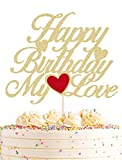 AHAORAY Happy Birthday My Love Cake Topper -...