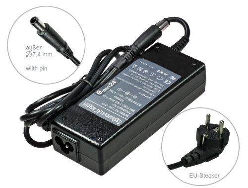 Notebook voeding AC-adapter oplader voor HP Elitebook 2560p 2760p 8460p 8560w 8760w 8560p 8560p-LQ589AW 8760W 8560W 8740W 8540W 8460P 8560P. Met Euro stroomkabel van e-port24®.