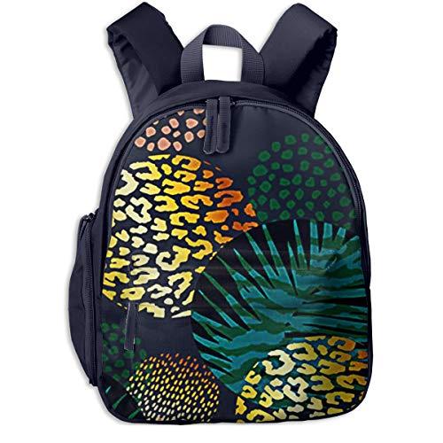 Kinderrucksack Kleinkind Jungen Mädchen Kindergartentasche Pflanze Trendy Palm Tier Backpack Schultasche Rucksack