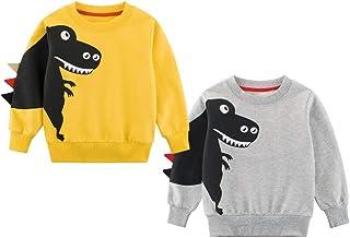 God Sweet Baby Boys Dinosaur Sweater 2-Pack Kids Activesweat