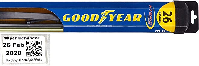 Hybrid - Driver Windshield Wiper Bundle - 2 Items: Driver Blade & Reminder Sticker fits 2008-2014 Scion xD