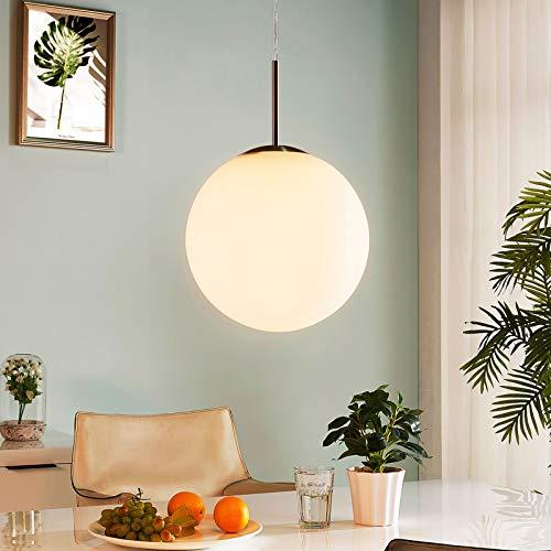 Lindby Pendelleuchte 'Marike' (Modern) in Weiß aus Glas u.a. für Wohnzimmer & Esszimmer (1 flammig, E27, A++) - Hängelampe, Esstischlampe, Hängeleuchte, Wohnzimmerlampe