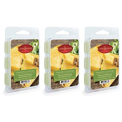 CANDLE WARMERS ETC 3-Pack 2.5 oz Wax Melt Tart Brick, Pineapple Cilantro