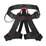 AmazeFan Climbing Harness, Thicken Rock Climbing Harness for Men Women, Protect Waist Safety Harness, Wider Half Body Harness for Mountaineering Rock Climbing Fire Rescuing Rappelling Tree Climbing
