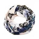 ManuMar sciarpa loop donna | sciarpa a tubo raffinata grigio con motivo di farfalla come accessorio perfetto per l'estate | scialle | foulard tondo | sciarpa infinita | Un regalo ideale