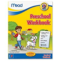 Mead Preschool Workbook, 10-7/8 x 8-3/8-Inches, 320 Pages (48054) by Mead