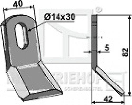 Y-Messer Mulchmesser 63-SM-01 82 x 40 x5 mm passend für Maschio Mulcher