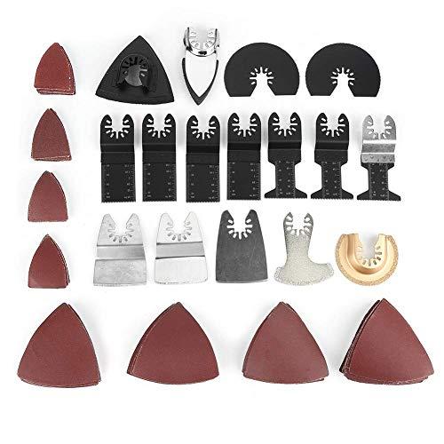 100 piezas de hojas de sierra de inmersión de alta precisión universal de liberación rápida herramienta de corte multiherramienta oscilante