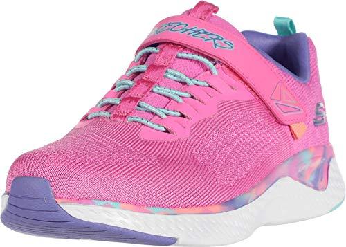 Skechers Solar Fuse, Zapatillas para Niñas, Rosa Pink Knit Mesh Multi Trim, 36 EU