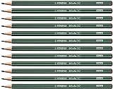 Lápiz de grafito de alta calidad STABILO Othello - Caja de 12 unidades - Dureza F
