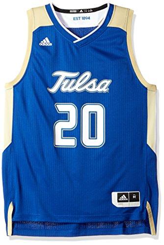 NCAA Tulsa Golden Hurricane Adult Men Replica Basketball Jersey Large,Blue