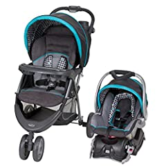 Infant car seat accommodates 5 - 30 pounds and heights of 30 inches or less. Large soft head support for the car seat or the stroller Multi-position reclining seat, and height adjustable handle Swing-away child tray with snack/cup holders Birth to 50...