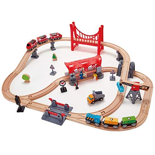 HAPE - E3730 - Circuit de Train en Bois - Circuit de la Ville animée