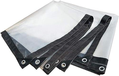 Bache de Prougeection Film Transparent pour Serre épaissir Imperméable Feuille De Tube Perforé Fleurs en Plastique De Balcon De Fenêtre De Prougeection (Taille   3  4m)