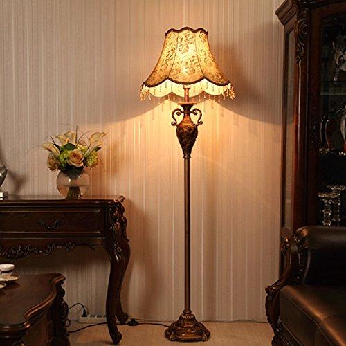 Lámpara de pie Lámpara de Piso Estilo Europeo/LED American Retro Living Room Mesa de Centro de Estar Vertical Wedding AA+