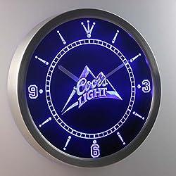 Coors Light Man Cave 3D Neon Sign LED Wall Clock NC0001-B