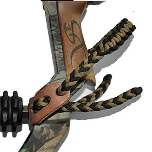 Smarty BS-01 Pure Leather Paracord Archery Braided Compound Bow Wrist Sling Strap