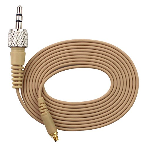 "JK 1/8"" Locking Screw Detachable Cable for JK MIC-J 071S Headset Headworn Microphone"