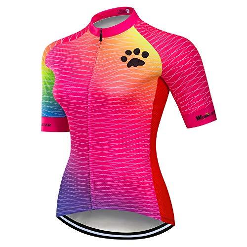 Mountainbike-Trikot für Damen, Fahrradtrikot für Damen, bequem, schnell trocknend - - Etikett M