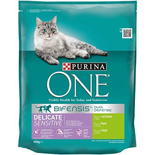 Purina One - Especialidades para Gatos, Rico en Pavo y Arroz - 800 g