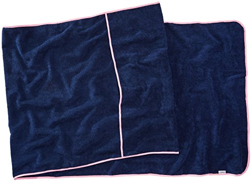 Sowel Serviette Plage pour Chaise Longue Bain de Soleil, Drap Plage èponge, 100% Coton, 220x80 cm, Marine Rose