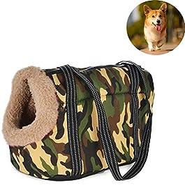 YUIOLIL Pet Breathable Backpack, Retro Pattern Pet Bag Shoulder Messenger Bag Light and Durable Designed for Travel Hiking and Outdoor Use