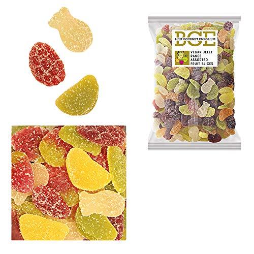 Bulk Gourmet Emporium - Surtido de caramelos de goma de fruta con picapica en rodajas, producto vegano, halal y sin envase de plástico, 2 kg