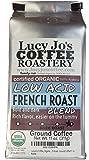 Lucy Jo's Coffee, Organic Low Acid French Roast, Ground Coffee 11 oz