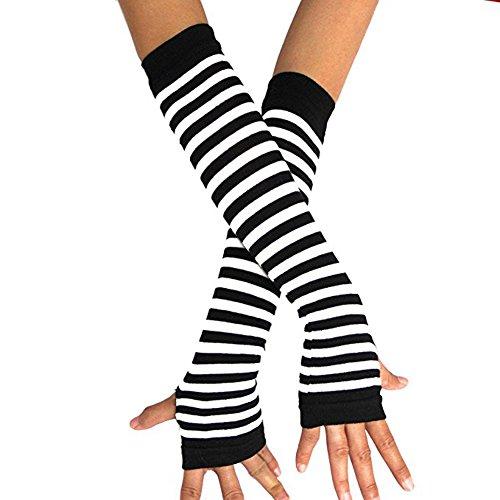 guanti emo Lansue guanti lunghi senza dita