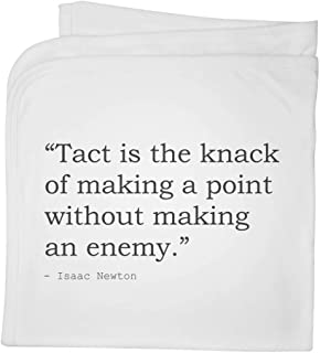 Quote by Isaac Newton Cotton Baby Blanket / Shawl (BY00008282)