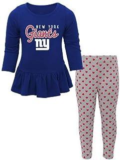 OuterStuff NFL Toddler Girls Tiny Trainer Long Sleeve Shirt & Pants Set